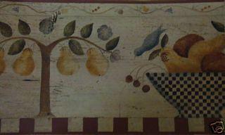 Carol Endres Fruit Bowl Wallpaper Border by Imperial/3 Rolls