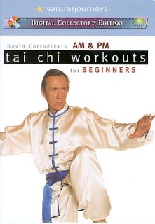 David Carradines AM PM Tai Chi Workout for Beginners DVD, 2003