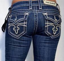 ROCK REVIVAL Womens Denim CELINE Jeans   Boot Cut with Rhinestones
