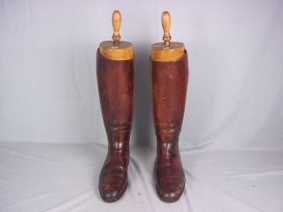 c1940 British Cavalry Officers Boots With Tom Hill Trees Size 10/11