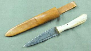 VINTAGE ENGLISH ENGLAND INDIAN RIDGE SHEFFIELD KNIFE BONE HANDLE