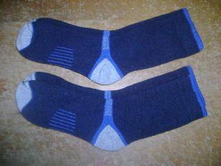 PAIR NEW SMART MERINO WOOL MENS NAVY HIKING TREKKING SOCKS XL 10 12