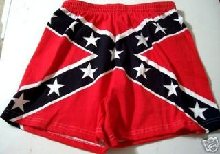 SMALL MEN REBEL FLAG BOXER SHORTS   CONFEDERATE UNDERWEAR   DIXIE