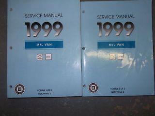 1999 Chevy Astro GMC Safari Service Shop Repair Manual SET OEM FACTORY