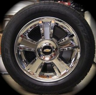 NEW Chevy Silverado Tahoe Suburban Avalanche Chrome Factory 20 Wheels