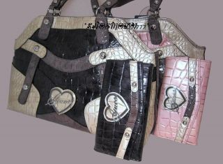 ELMA Bag Purse Handbag Satchel Tote Sac Heart Logo Wallet Checkbook
