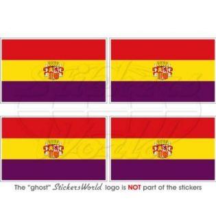 SPAIN 2nd Spanish Republic State Flag Bumper Helmet Stickers, Decals 2