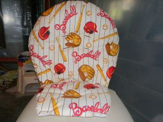 Chicco Magic High Chair Cover In Baseball Print Cute.
