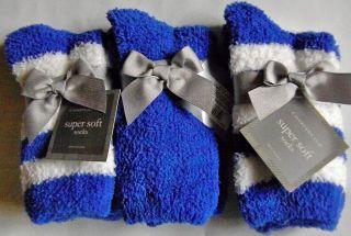 Charter Club Womens Juniors Size 9 11 Super Soft Socks Packs of Three