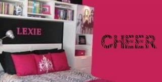 Cheerleader Zebra Print Vinyl Car or Wall sticker decal   Pick your