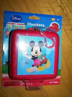 DISNEY MICKEY MOUSE CLUBHOUSE CHECKERS MINI TRAVEL GAME CASE NEW NISP