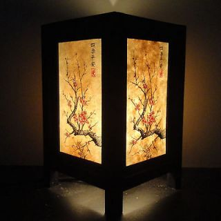 Asian Oriental Japanese Cherry Blossom Tree Art Bedside Desk Table