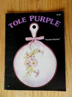 Tole Purple Acrylic Tole Painting Patterns Instruction Annie