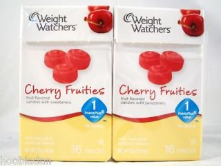 WEIGHT WATCHERS Fruities Candies 2 Boxes Fresh Cherry