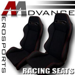 Sport Racing Bucket Seats+Sliders Chevy (Fits 1997 Chevrolet Tahoe