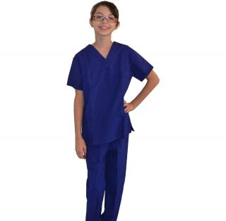 Kids Scrubs Royal Blue REAL Childrens Doctor and Nurse Scrub Sets