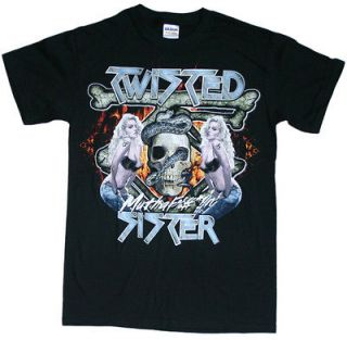 Twisted Sister   Chick Skull T Shirt