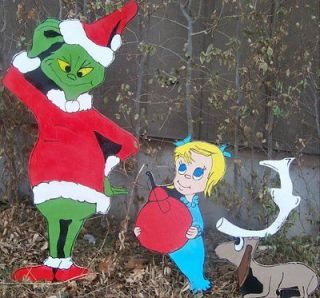How The Grinch Stole Christmas Yard Decorations 3 pc Set