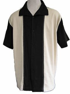 NWT Mens Retro Bowling Shirt Charlie Sheen Rockabilly Vtg 50s Club