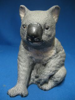 Gray Koala Bear Marsupial Porcelain Bisque Figurine Statue Figure