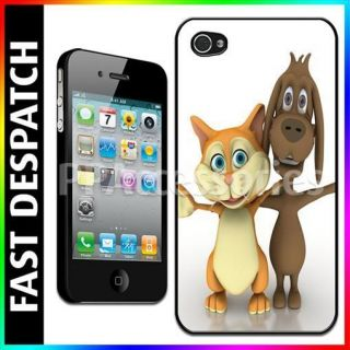 Cat & Dog Best Friends Forever Linked Arms Hard Case Back For iPhone 4