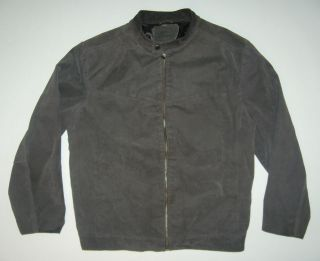 HAYES Genuine leather suede Coat Jacket Dark Grey Black Men size XL