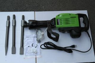 Electric Demolition Jack Hammer With 3 Chisels Concrete Breaker HD