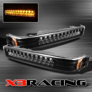 BLACK 98 05 CHEVY S10/BLAZER FULL LED BUMPER PARKING TURN SIGNAL