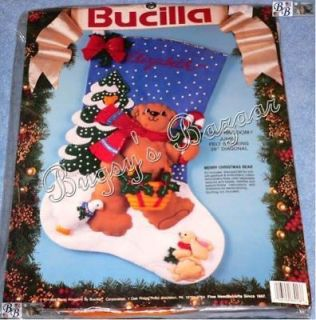 bucilla felt stocking kit 28 in Embroidery Kits