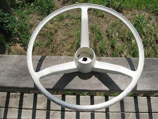 VINTAGE CLASSIC BOAT STEERING WHEEL ALUMINUM OR METAL EXCELLENT