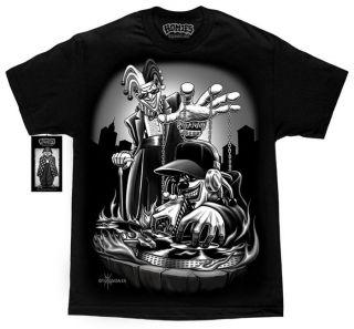 DJ Joker Clown Lowrider Cali Life T Shirt DGA David Gonzales Homies M