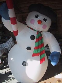 INFLATABLE GIANT 8 FT SNOWMAN GEMMY AIRBLOWN CHRISTMAS YARD DECORATION