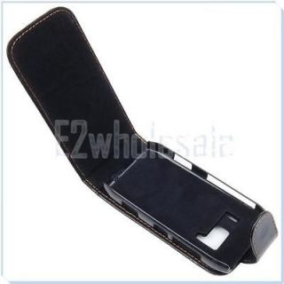 Black Flip up Leather Case Pouch for Nokia N8 NEW