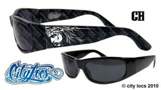 City Locs 441 Jesus Chopper Gangster OG Tattoo Lowrider Sunglasses New