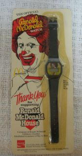 Vtg 1984 Official Ronald McDonald Watch Coca Cola NEW