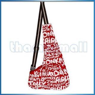 Sling Carrier Oxford Cloth Single Shoulder Bag Tote Red white S HOT