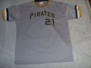 Roberto Clemente, Pgh Pirates, 1970s Style, Grey Road Jersey, SGA