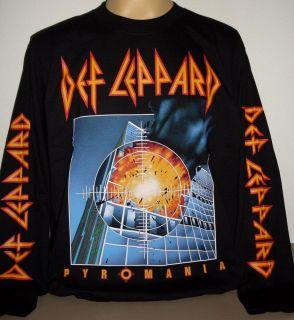 Def Leppard Pyromania long sleeve T Shirt Size M   2 XL new classic