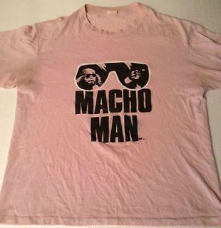 Macho Man Randy Savage T Shirt WWF WWE WCW King Wrestling Hulk Hogan