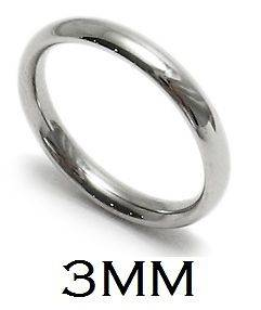 3MM Stainless Steel Comfort Fit Plain Wedding Band Ring   R316 03