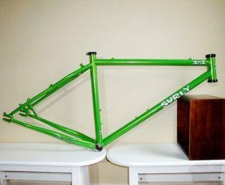 Surly 1x1 Green Single Speed Disc Mountain Bike Frame Medium 17 w