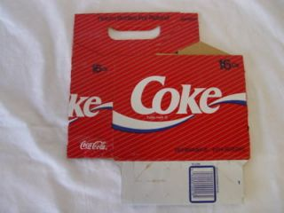 Nice 1990s Coca Cola Coke 16oz Bottle 6 Pack Carrier