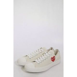 Comme des Garcons PLAY x Converse All Star Low Trainers Cream *Odd*