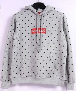 COMME Des GARCONS CDG X SUPREME PLAY MENS HOODIES GRAY XL