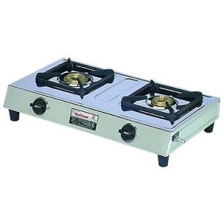DUAL TWO 2 BURNER PROPANE CAMP STOVE GAS COOKER CAMPING LP TAILGATE