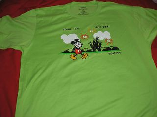 XL Mickey Mouse as Computer Game NWT Disney Parks Lime Green tee shirt