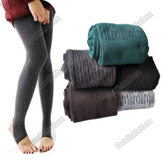 Winter Warm Women Cotton Tights Pants Stirrup Leggings 5 Colors New