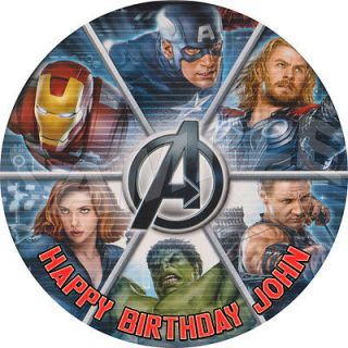 Avengers Personalized Round Edible Cake Image Topper Decoration 7.5 A