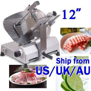 12 BLADE COMMERCIAL STAINLESS STEEL ELECTRIC MEAT SLICER HIGH QUALITY