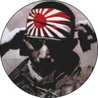 JAPANESE WW2 KAMIKAZE 2.25 pin button badge magnet SAMURAI ZEN